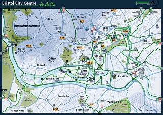 bristol centre map